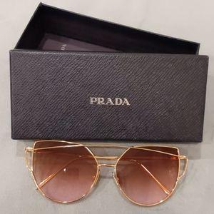 Rose gold Sunglasses with Prada box